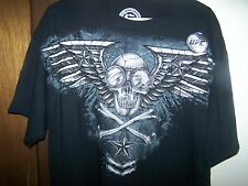 UFC SKULL AND CROSS BONES BLACK TEE SHIRT XL OFFICIAL SINISTER BRAND