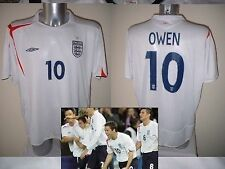 Inghilterra michael owen Maglia Jersey Calcio Soccer Adulto XL VINTAGE uniforme TOP