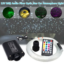 12V Audio Fiber Optic Star Light Car Headliner Roof Atmosphere Light 300 Points