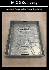 More details for manhole cover block paving 300x300 450x450 600x450 600x600  80mm-deep all metal