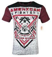 AMERICAN FIGHTER Mens T-Shirt GALESVILLE Athletic Biker MMA Gym UFC $40