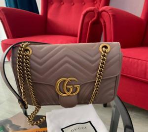 ++**Authentic Gucci GG Marmont Medium in Porcelain Rose Matelass¨| Shoulder Bag