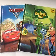 "Disney's  'A Bugs Life' & ""Cars 2"" Hardback Very Good Books. UK Freepost"