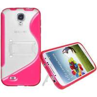 NEW AMZER PINK PROTECTIVE TPU HYBRID CASE W/ STAND FOR SAMSUNG GALAXY S4 I9500