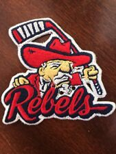 "Ole Miss Rebels Colonel Reb  Vintage Embroidered Iron On Patch 3"" x 3"""