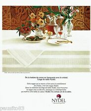 PUBLICITE ADVERTISING 116  1978  service de table nappe Cadix Nydel