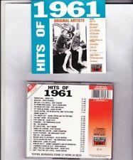 Hits of 1961 (24 tracks, mfp/EMI, 1987) Bobby Vee, Eddie Cochran, Gene Vi.. [CD]