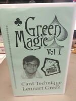VHS Card Technique by Lennart Green Video Tape Rare Signed by Lennart Green