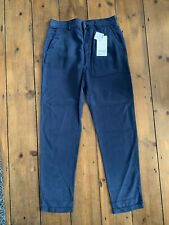 Zara Trousers Size 6 Chino Style Navy Blue Soft Touch Lyocell  BNWT RRP £19.99