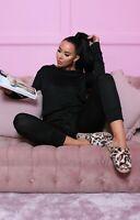 Ladies Women's Sweatshirt Joggers Plain Lounge Wear Tracksuit Size UK New  8-14