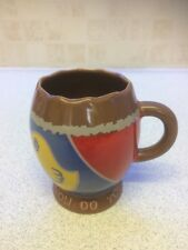 VINTAGE CADBURYS CREME EGG CERAMIC MUG HOW DO YOU EAT YOURS MADE IN ENGLAND