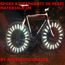 SPOKE ASTE RIFLETTENTI CATARIFRANGENTI BIKE BICI 36 PEZZI SICUREZZA MATERIALE 3M