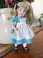 "Antique Alice (?) Sfbj 247 Paris Full Porcelain Doll 9 1/2"""