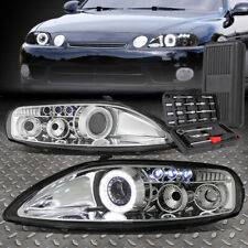 FOR 92-00 LEXUS SC300 SC400 LED DRL CHROME HOUSING PROJECTOR HEADLIGHTS+TOOL SET