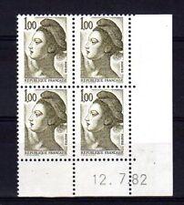 FRANCE YVERT n° 2185 neuf sans charnière -  Bloc de 4 coin daté