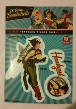 DC Bombshells Hawkgirl Exclusive Vinyl Window Decal PX New Mint MOC
