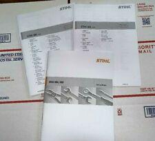 064 066 Stihl Chainsaw Service Workshop Repair & Parts Diagram Manuals Lot of 3