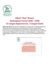 Roy Brown Nottingham Forest 1936-1938 Muy Raro Original Corte firmada a mano