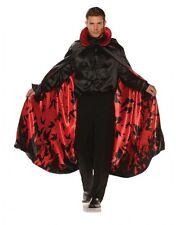 Satin Cape Red Bat Lining Adult Men Women Halloween Costume Accessory Vampire
