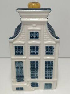 KLM Blue Delft House by Bols Royal Distilleries Holland Unsealed Liqueur Bottle
