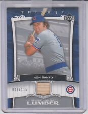 2005 Trilogy Ron Santo Bat Card Generations of Lumber Chicago Cubs 6/115 HOF SP