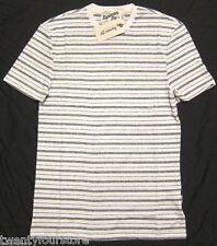 NWT $45 Topman Ltd by Topshop Velo Grey Stripe T Shirt sz XXS