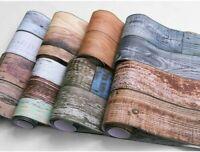 Rustic Wood Plank Self Adhesive Wallpaper Furniture Floor Wall Stickers Bedroom