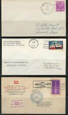 USS PRESIDENT JACKSON  LOT OF 3  DIFFERENT COVERS 1940-1967 AS SHOWN (30)