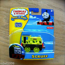 Thomas & Friends SCRUFF Take-N-Play diecast Lime Green Steamie tank engine train