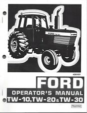 FORD TW10 TW20 TW30  Tractor Operator Manual, 42001031