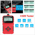 Car V309 Tester Obdii Display Diagnostic Instrument Tool Scanner Code Reader Rpm