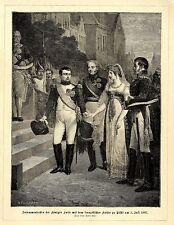 Königin Luise & Napoleon in Tilsit am 5.Juli 1807 * Dekorative Graphik 1895