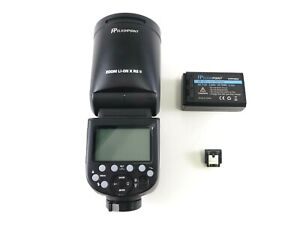 Flashpoint Godox R2 V1 Flash for Sony for Parts, Broken Hot-Shoe, No Charger.