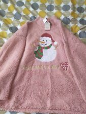 Ladies Pink Christmas Jumper Size XL By Poof You Melt My Heart Brand New