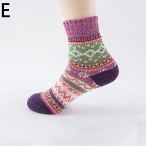 Women Wool Socks Warm Thick Thermal Nordic Novelty Winter Ladies Ankle Socks
