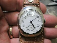 US WWI MILITARY CYMA STERLING FANCY SILVER CASE NONRUNNING WRIST Watch
