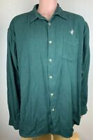 Lewis Creek Mens Green Button Up 2XL XXL Countrywear Embroidered Duck Shirt