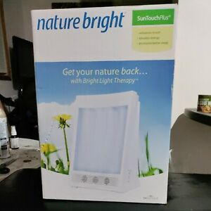 Nature Bright Sun Touch Plus Light and Ion Therapy Lamp Model F4040 1 Hour Timer
