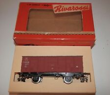 Vintage Rivarossi HO Scale Italia Covered Goods Wagon with Original Box #CF 25