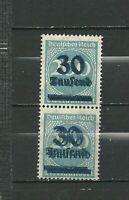1923 German Hyper inflation Double Over Print Double Colour Error Pair