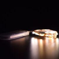 2M 20er LEDs Lichterkette Draht Micro warmweiß, Batteriebetrieb /bw
