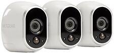 Arlo Security System 3 Wire-Free HD Cameras, Indoor/Outdoor, Night Vision R