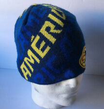 Club America Beanie Skull Cap Hat Aguilar del America FMF Mexico Nvy Blue Yellow