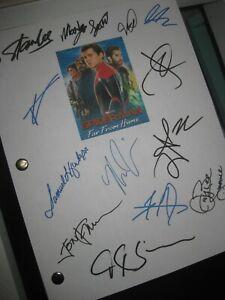 Spider-Man Far From Home Signed Film Script Tom Holland Zendaya Gyllenhaal REPNT