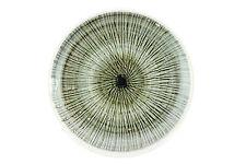A Rye pottery pin dish. Sgrafito design. English. Green & black.