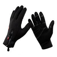 Winter Summer Leather Motorcycle Motorbike Gloves Outdoor Ski Gloves Black