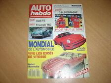 Auto hebdo N°645 Audi V8.Mondial de l' auto