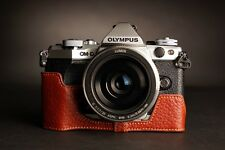 Genunie Real Leather Half Camera Case Bag Cover for Olympus OM-D E-M5 EM5 II