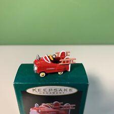 1996 Hallmark Murray Fire Truck Mini Kiddie Car Classics Ornament - New & Rare