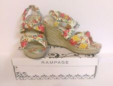 !!! Rampage Brixton Natural Floral Wedge !!! Size 8.5 M
